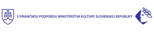 Logo MK SR - With Financial support of the Ministry of Culture of the Slovak Republic